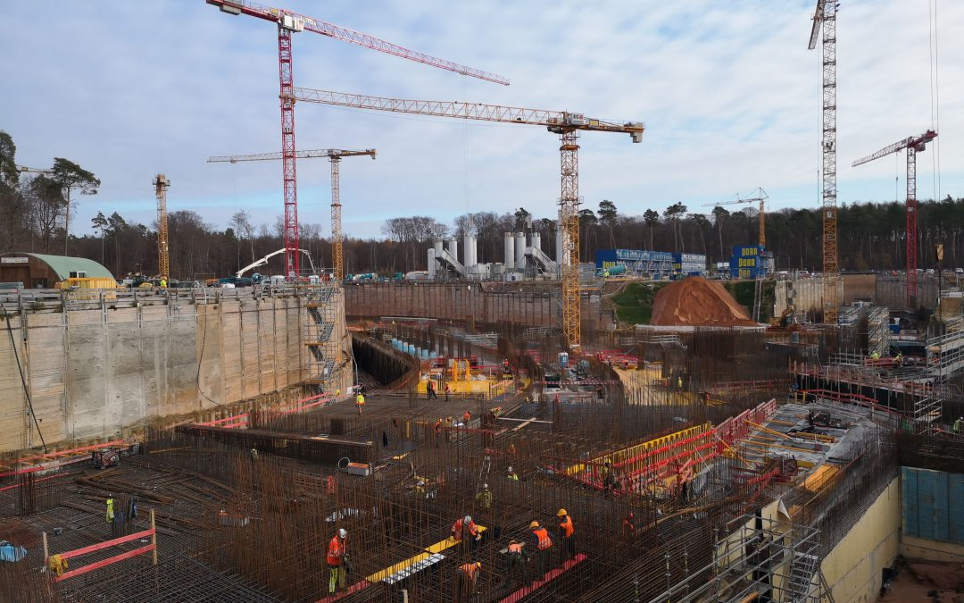 Bau eines Teilchenbeschleuniger in Darmstadt