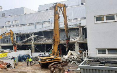 Vorbereitung Neubau Sozial- und Logistikgebäude